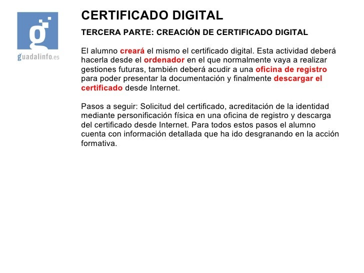 Presentacion cafu 40 certificado digital for Oficina certificado digital