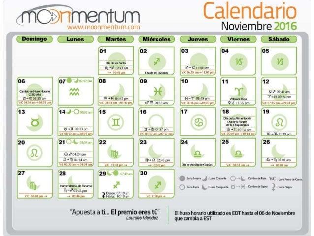 Presentacion calendario noviembre 2016 for Calendario lunar noviembre 2016