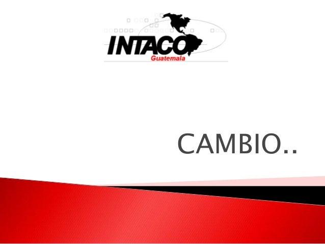 CAMBIO..