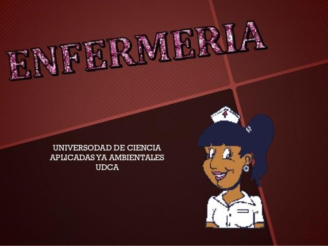 UNIVERSODAD DE CIENCIA APLICADASYA AMBIENTALES UDCA