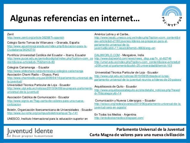 Algunas referencias en internet…Zenit                                                             América Latina y el Cari...