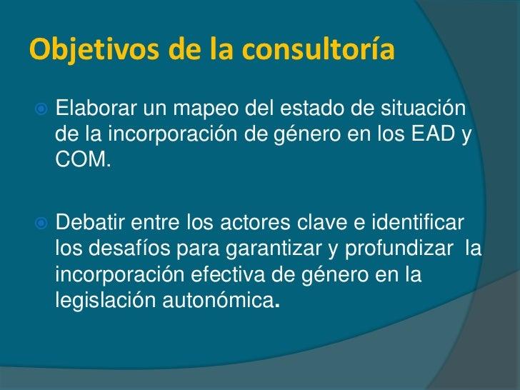 Avances y desafíos del proceso autómico: género en la mesa de debate Slide 2