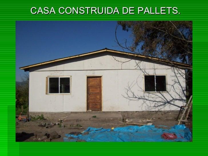 Casas construidas con palets - Cuanto cuesta un palet de madera ...