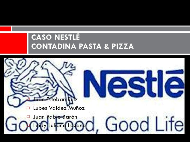 nestle contadina pizza and pasta Executive summary nestle refrigerated food company, in 1990, had to decide  about the launch of contadina pizza (a refrigerated pizza), and so that it could.