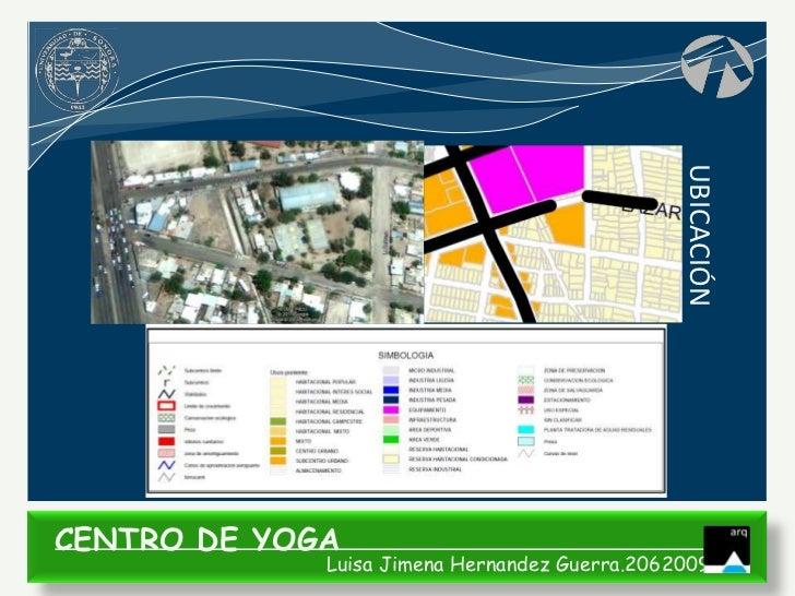 UBICACIÓNCENTRO DE YOGA             Luisa Jimena Hernandez Guerra.206200935