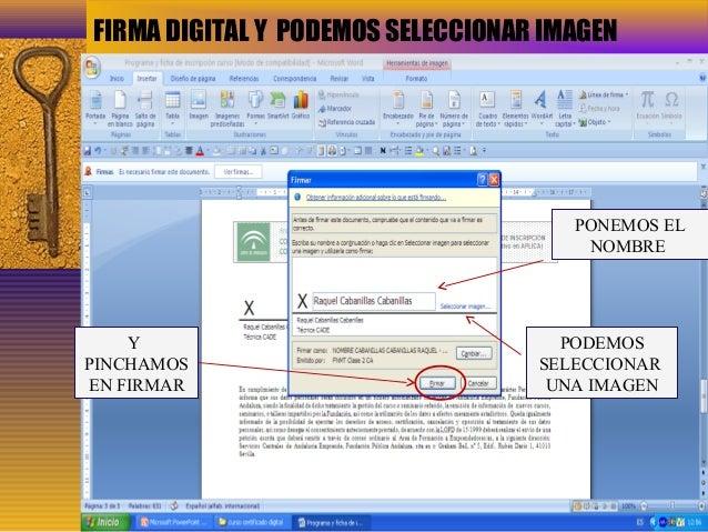 Presentacion certificado digital for Oficinas certificado digital