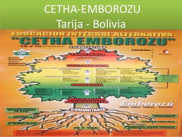 CETHA-EMBOROZU Tarija - Bolivia