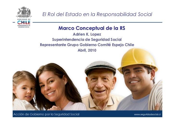 El Rol del Estado en la Responsabilidad Social           Marco Conceptual de la RS                  Adrien K. Lopez       ...