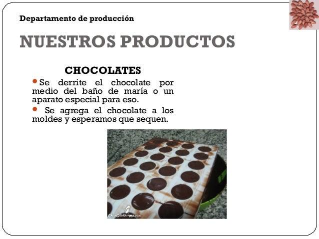 Departamento de producción  NUESTROS PRODUCTOS  Mc Paradise  • Se agrega el helado al vaso  • Se agrega los ingredientes q...
