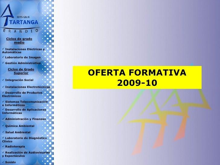 Presentación Ciclos Formativos 2009