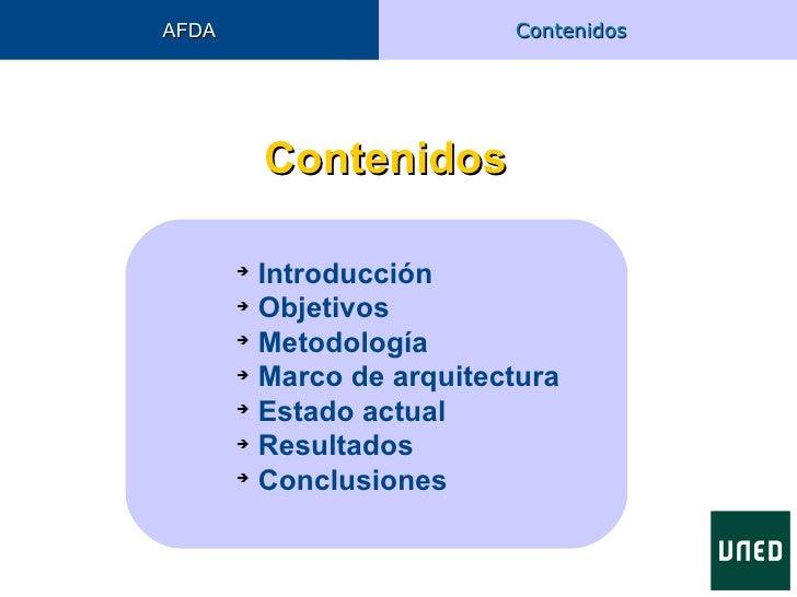 AFDA                      Contenidos           Contenidos                Introducción                Objetivos         ...