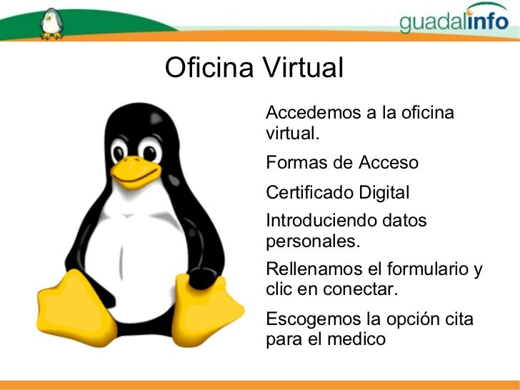 Presentacion cita medico for Oficina virtual junta