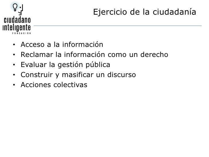 Presentación Ciudadano Inteligente Slide 3