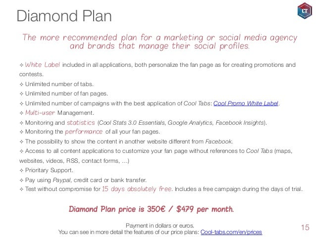 Diamond Plan The more recommended plan for a marketing or social media agency and brands that manage their social profiles...