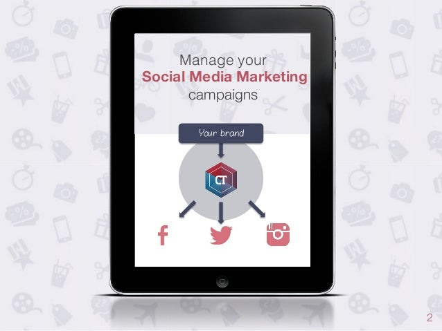 Manage your! Social Media Marketing campaigns Your brand  2