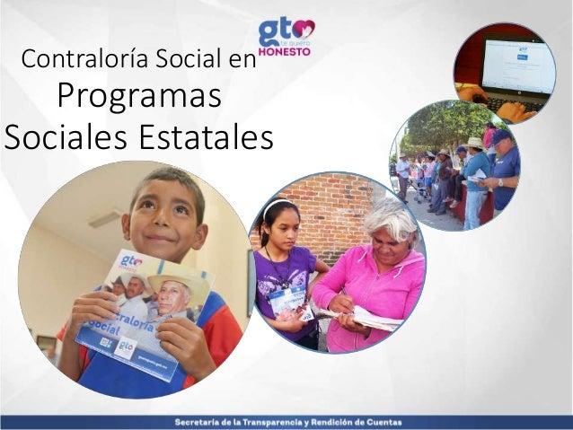 Contraloría Social en Programas Sociales Estatales