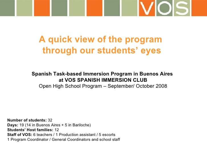 A quick view of the program  through our students' eyes Spanish Task-based Immersion Program in Buenos Aires  at VOS SPANI...