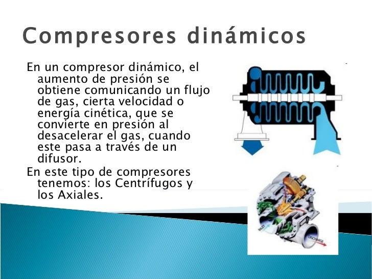 Tipos de compresores dinámicos