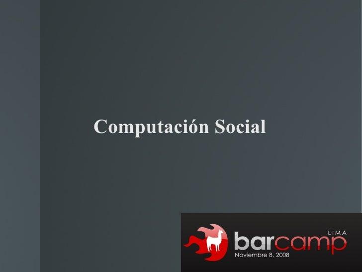 Computación Social