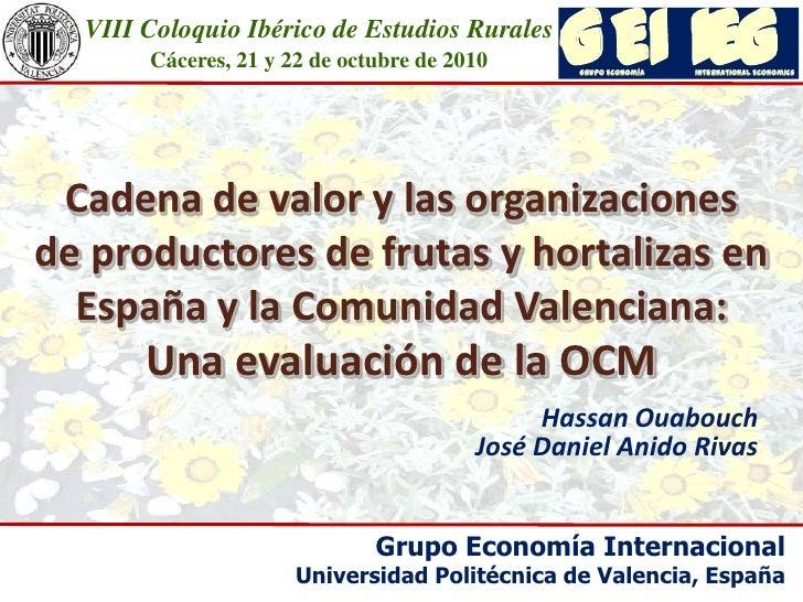 VIII Coloquio Ibérico de Estudios Rurales  Cáceres, 21 y 22 de octubre de 2010<br />I<br />E<br />G<br />I<br />E<br />G<b...