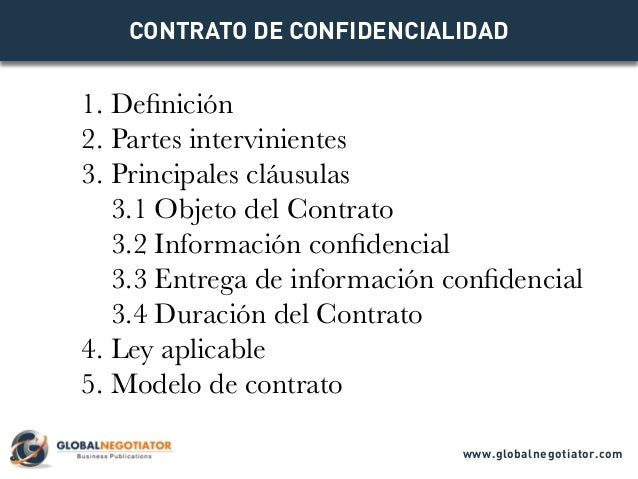 Contrato De Confidencialidad Modelo De Contrato Y Ejemplo