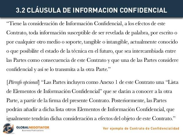 Contrato de confidencialidad modelo de contrato y ejemplo for Que es una clausula