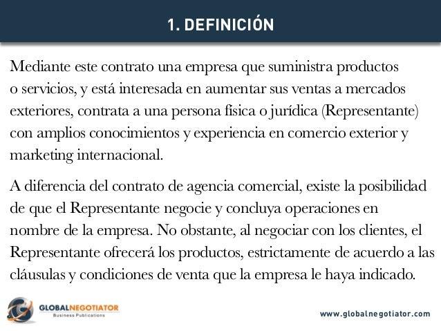 CONTRATO DE REPRESENTACIÓN COMERCIAL INTERNACIONAL - Modelo de Contrato y Ejemplo Slide 2