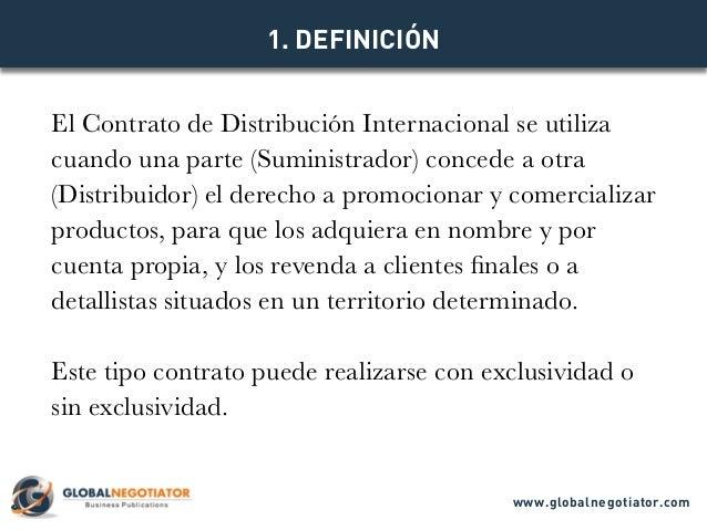 CONTRATO DE DISTRIBUCIÓN INTERNACIONAL - Modelo de Contrato y Ejemplo Slide 2