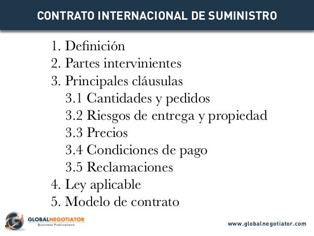 Contrato de Exportación Contrato Internacional de Servicios