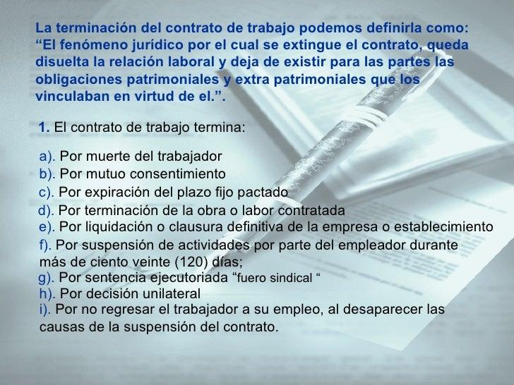 Presentacion contrato laboral 1 Contrato laboral de trabajo