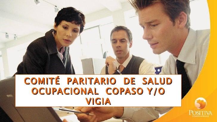 COMITÉ PARITARIO DE SALUD OCUPACIONAL COPASO Y/O          VIGIA