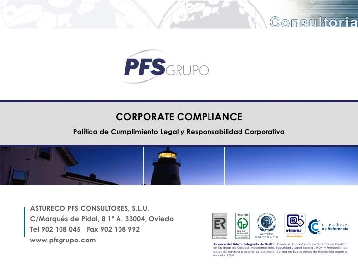 Presentacion corporate compliance share - Corporate compliance officer ...