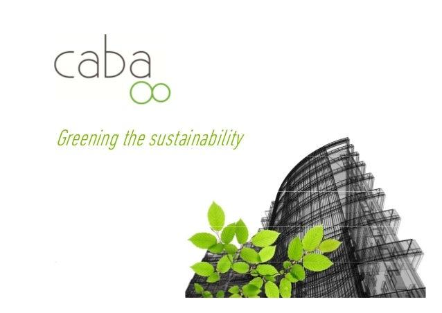 Greening the sustainability Servicios para la sostenibilidad