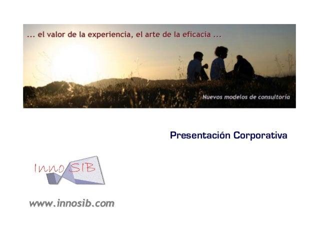 Presentación Corporativa  www.innosib.com