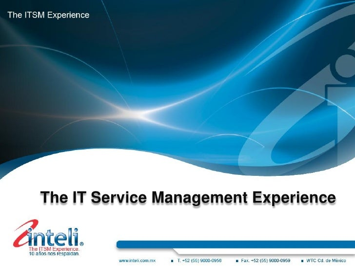 The IT Service Management Experience
