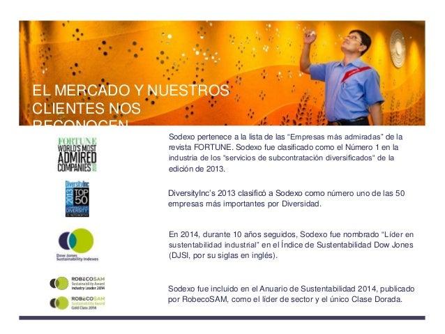 """Sodexo pertenece a la lista de las """"Empresas más admiradas"""" de la revista FORTUNE. Sodexo fue clasificado como el Número 1..."""