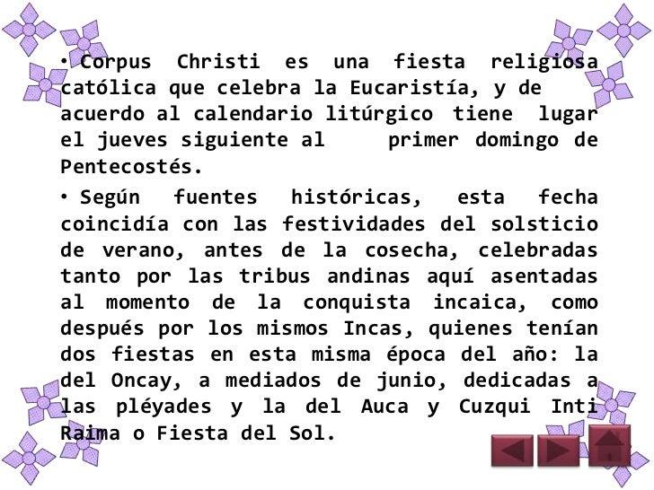 Presentacion corpus christi