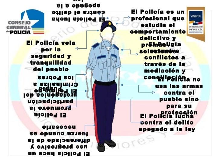 apegado a la       contra el delito   El Policía es un       El Policía lucha   profesional que                           ...