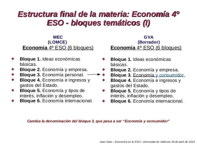 Ponencia - Taller Economía en la ESO 5a sesion UV Joan Sala