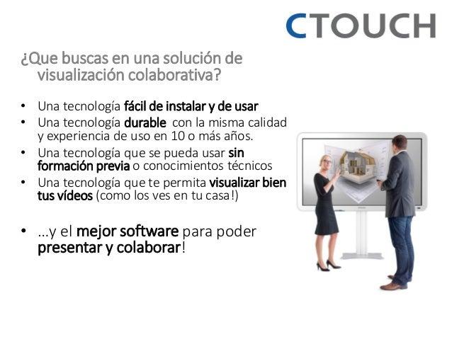 ¿Que buscas en una solución de visualización colaborativa?  •Una tecnología fácil de instalar y de usar  •Una tecnología d...