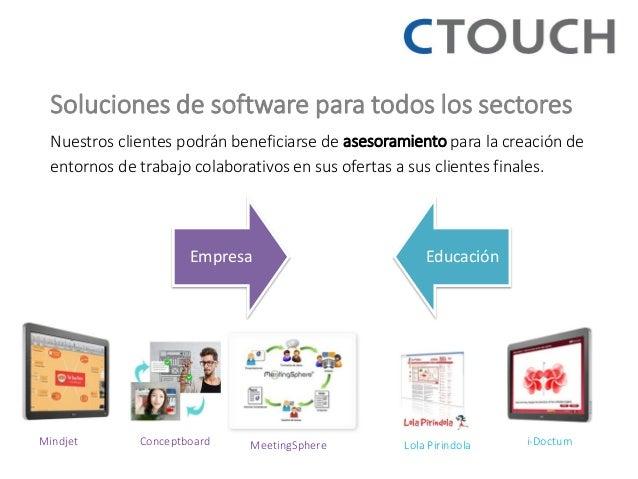 Soluciones de software para todos los sectores  Nuestros clientes podrán beneficiarse de asesoramiento para la creación de...