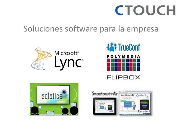 Soluciones software para la empresa