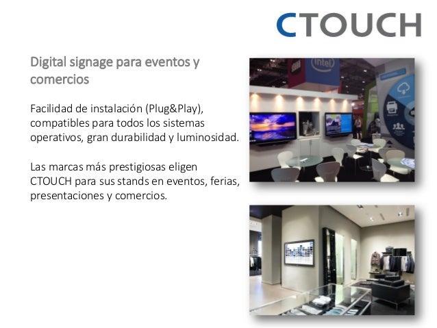 Digital signage para eventos y comercios Facilidad de instalación (Plug&Play), compatibles para todos los sistemas operati...