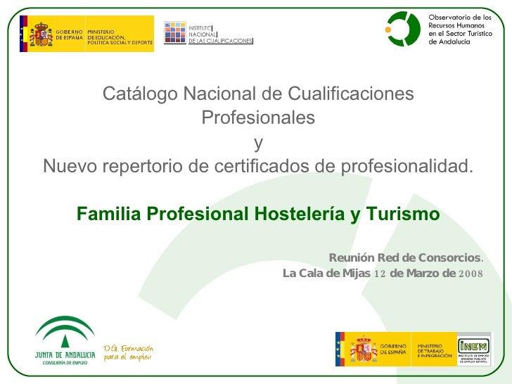 <ul><li>Catálogo Nacional de Cualificaciones </li></ul><ul><li>Profesionales </li></ul><ul><li>y </li></ul><ul><li>Nuevo r...