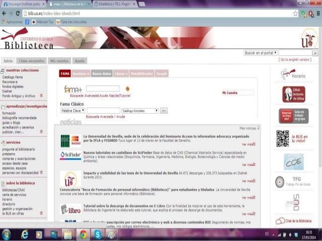 CUIDEN • Primero accedemos a Cuiden a través de la página web de la biblioteca de Centros de la Salud. Pinchamos en el cen...
