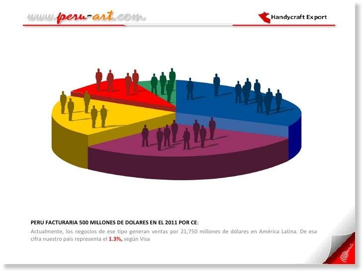 <ul><li>PERU FACTURARIA 500 MILLONES DE DOLARES EN EL 2011 POR CE :  </li></ul><ul><li>Actualmente, los negocios de ese ti...