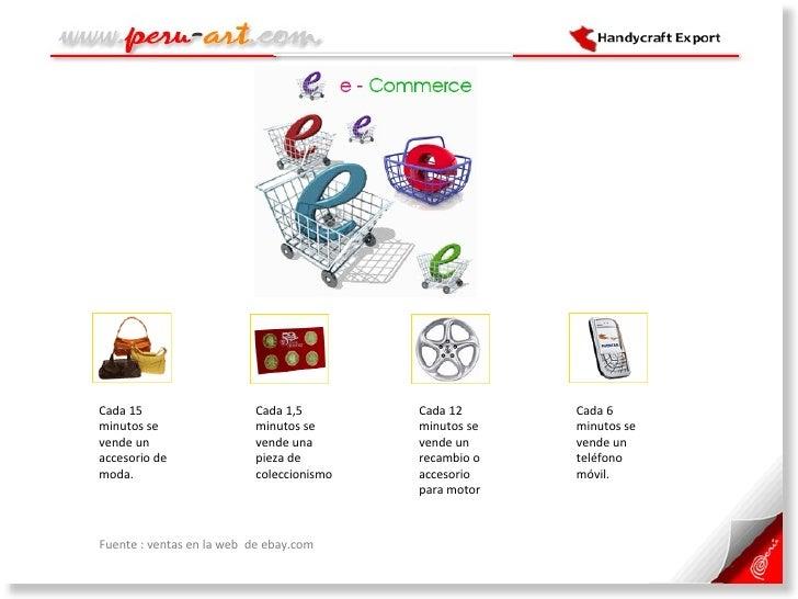 <ul><li>Fuente : ventas en la web  de ebay.com </li></ul>Cada 15 minutos se vende un accesorio de moda.  Cada 6 minutos se...