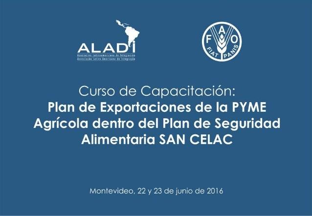 ALADI y el comercio intrarregional de alimentos Orientador: Fernando Correa