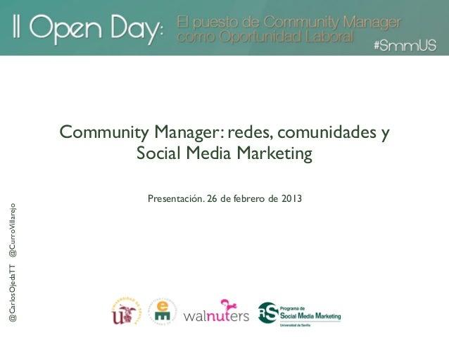 Community Manager: redes, comunidades y                                        Social Media Marketing                     ...