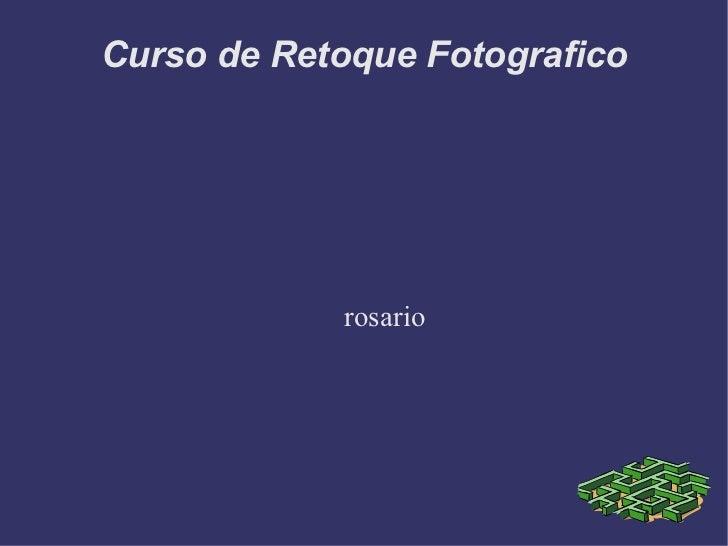 Curso de Retoque Fotografico rosario